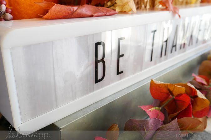 How To Keep Gratitude Visual with Heidi Swapp Lightbox Shelf by Jamie Pate | @jamiepate for @heidiswapp