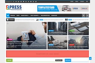 BPress Responsive Blogger Template