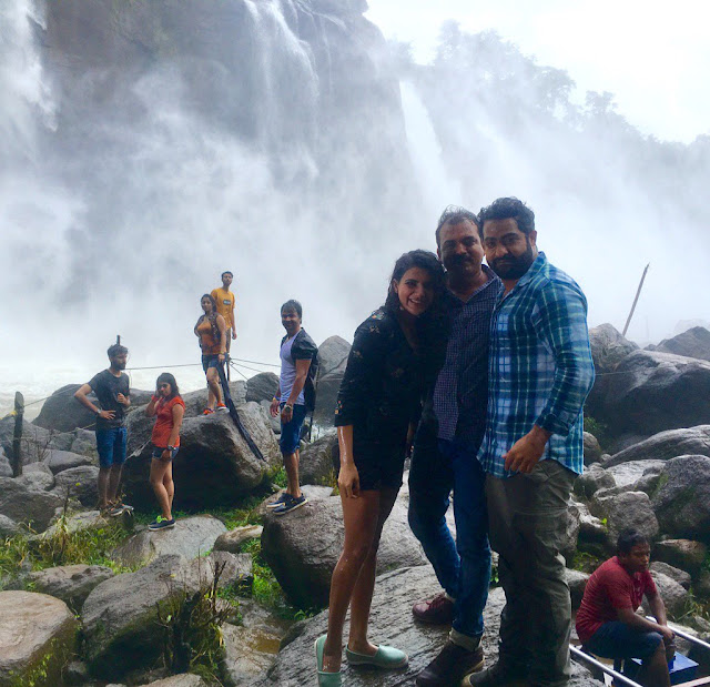 Samantha,Ntr in Kerala recent shooting
