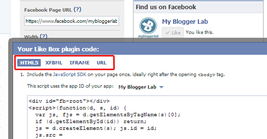 How to Add the Facebook Fan Box in Blogger ~ My Blogger Lab