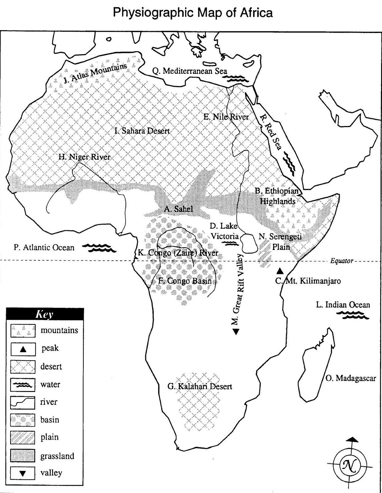 Physiographic Map Of Africa Golf Charlie Papa: Ten Things Teachers Taught Me Physiographic Map Of Africa