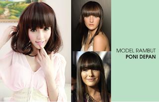 4 Model Gaya Rambut Poni Wanita Terpopuler 2016