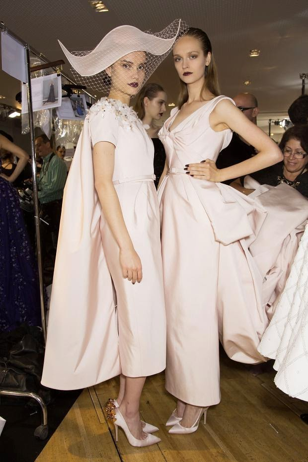 Beauty and  Backstage at Ralph and Russo Haute Couture Fall 2014