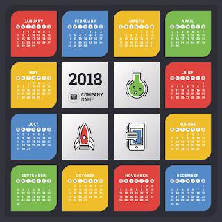 2018カレンダー無料テンプレート014