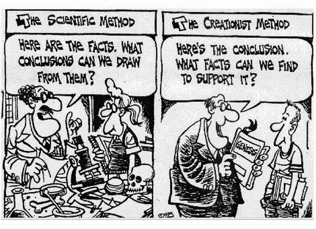Scientific vs Creationist Method Cartoon Picture
