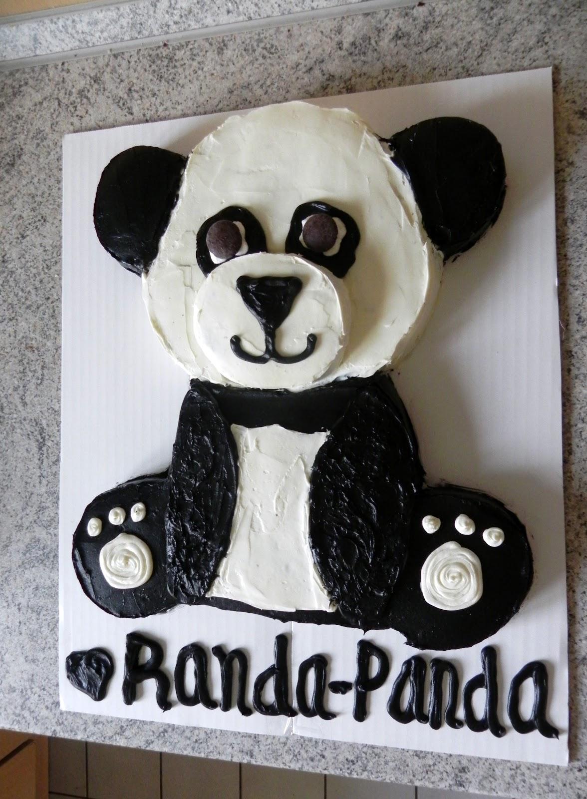 Coffee planners sunshine panda bear cake for miranda for Panda bear cake template