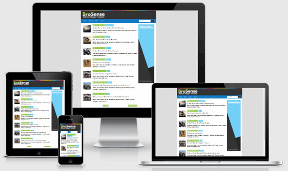Brosense v2 Responsive Blogger Templates High CTR AdSense