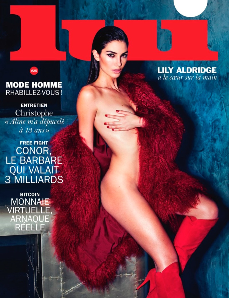 Anabel Alonso Topless lily aldridge is nearly naked for lui magazine march 2016
