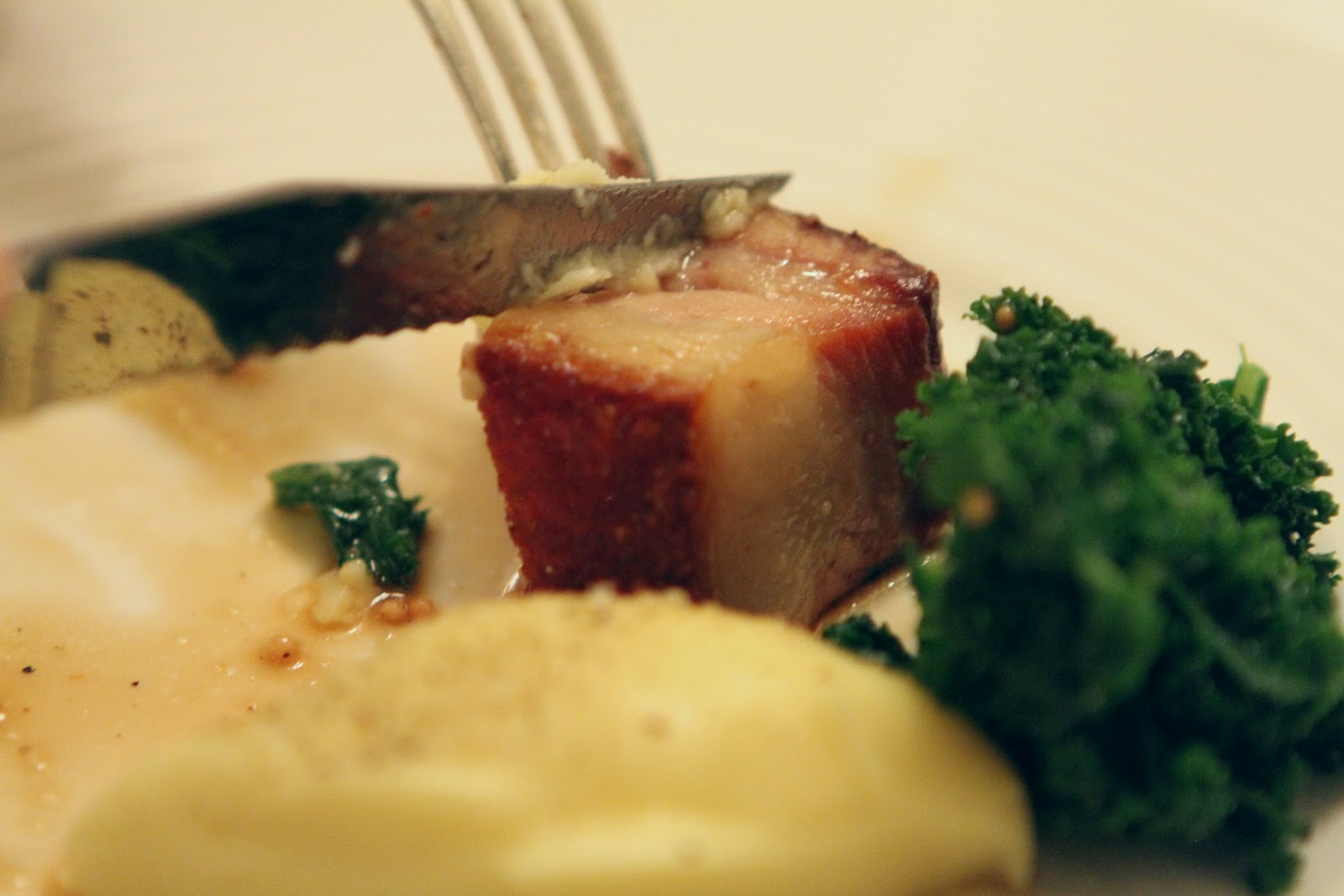 The Savoy grill pork belly