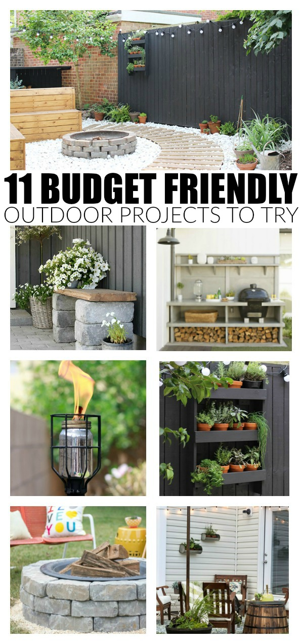 11 awesome BUDGET FRIENDLY outdoor projects to try now!