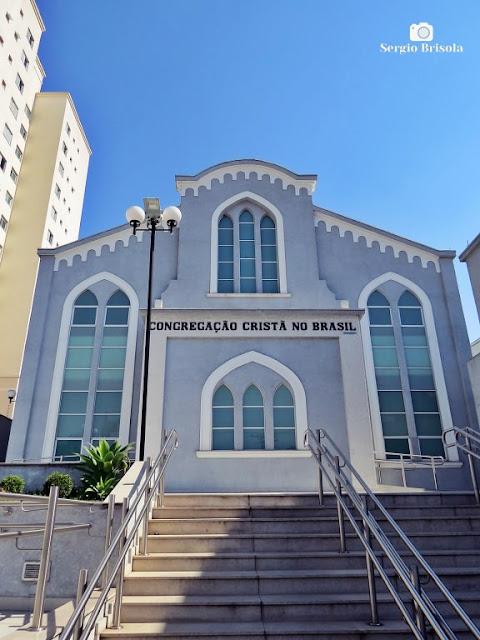 Fachada da Congregação Cristã no Brasil - Ipiranga - São Paulo