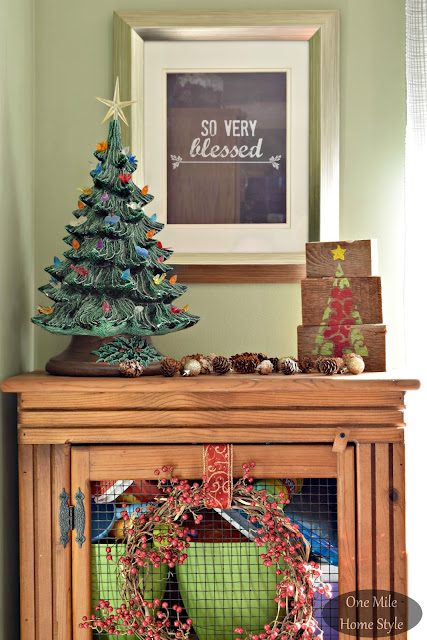 One Mile Home Style Christmas Home Tour 2015 | One Mile Home Style