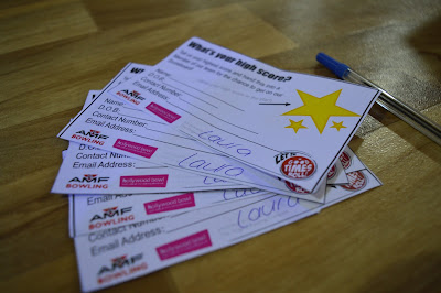 Score cards at AMF Bowling - The Galleries | Washington