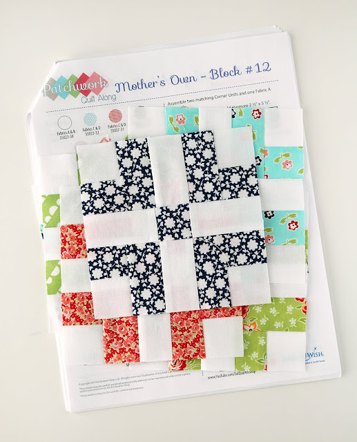 Adorable little quilt blocks with a free pattern Patchwork Quilt Along