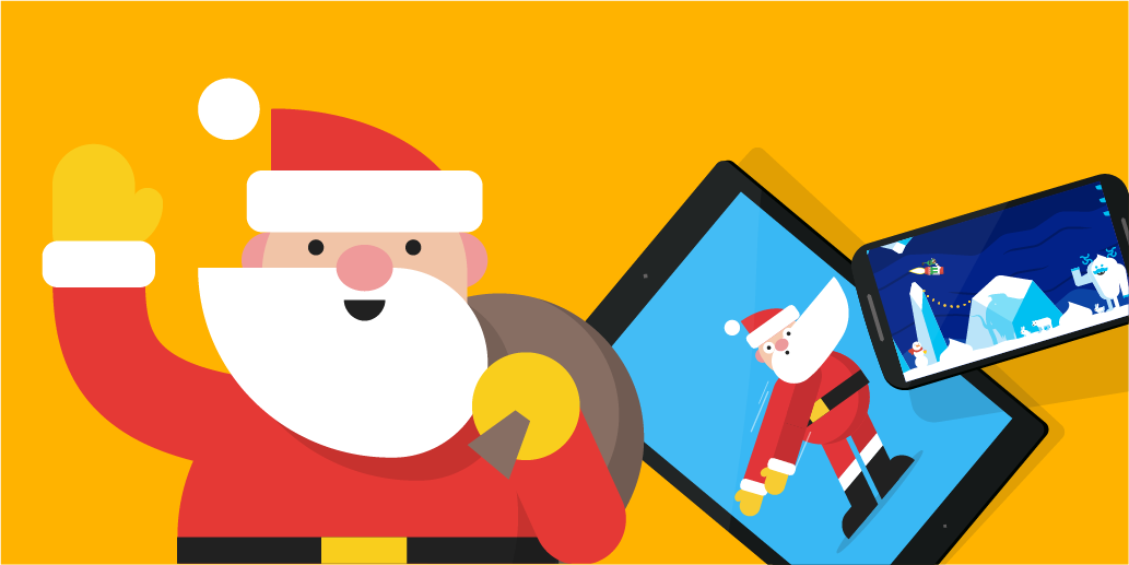 Header image with Santa