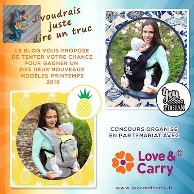 love & carry porte-bébé préformé AIR portage fullbuckle concours babywearing porte-bébé