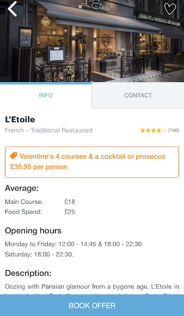 Affordable Valentine's Dining at Bookatable