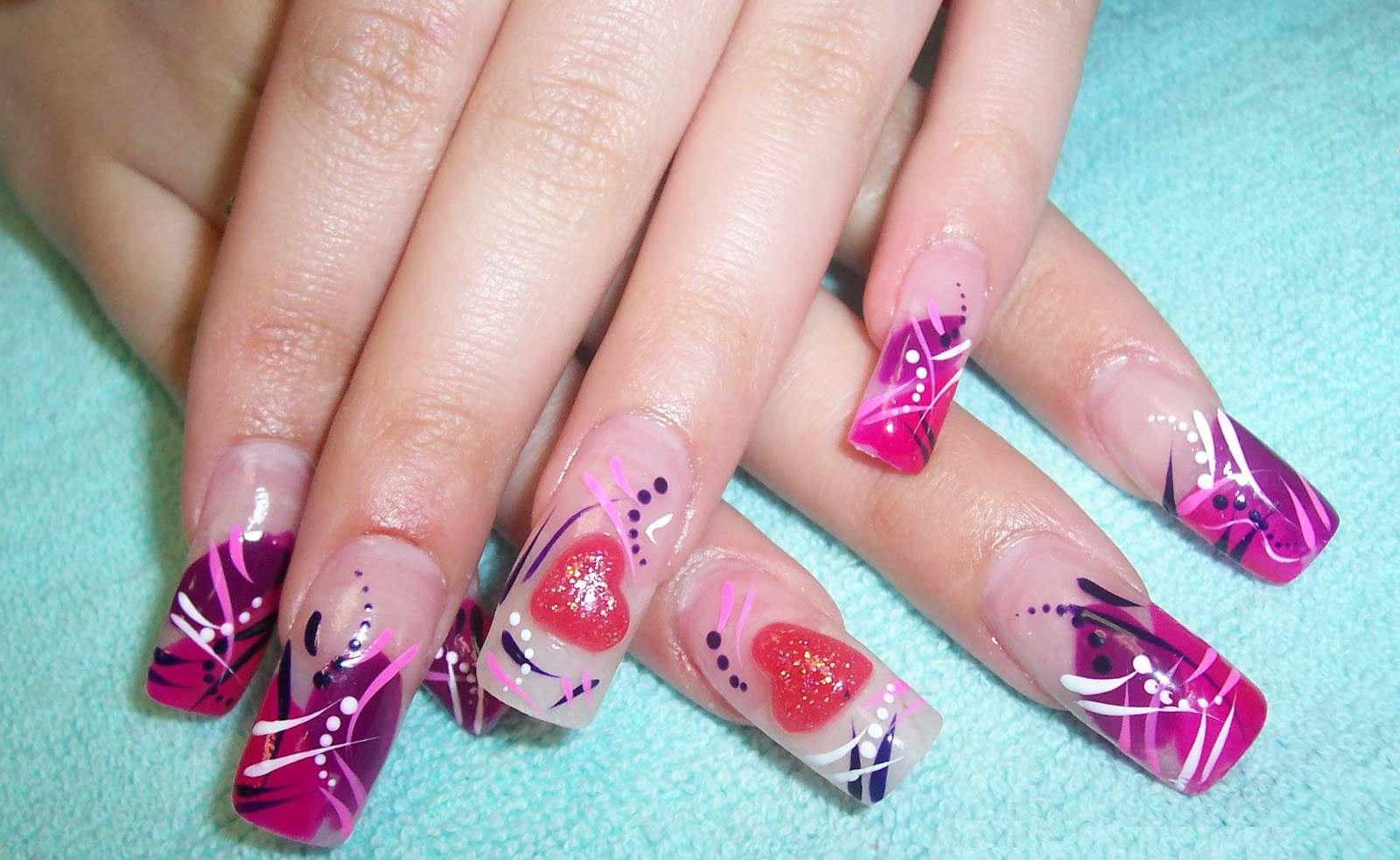 valentine's day nail designs Ideas -How to Decorate nails ...