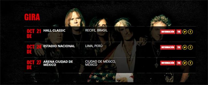 Suspenden el concierto de Aerosmith en Bolivia por condiciones climáticas