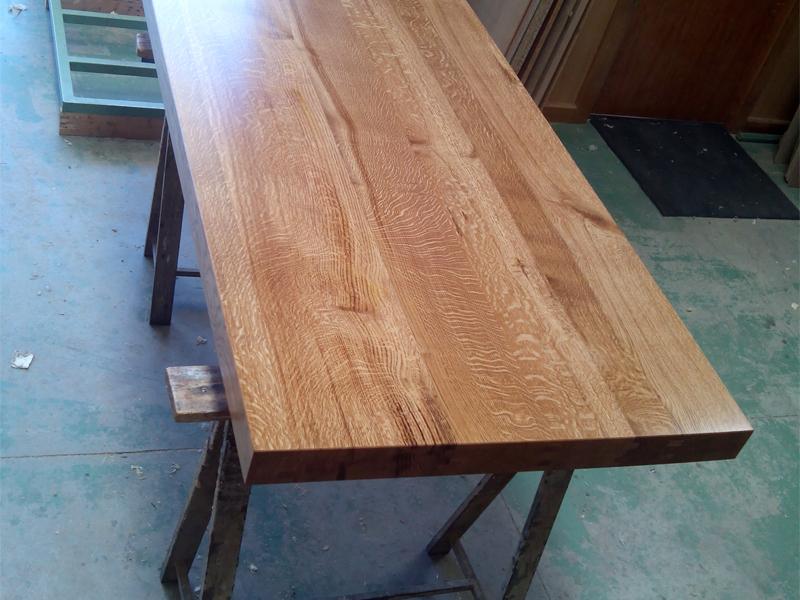 Mesa de cocina en roble macizo - Muebles Cansado (Zaragoza ...