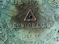 Survey marker on Glendora Peak