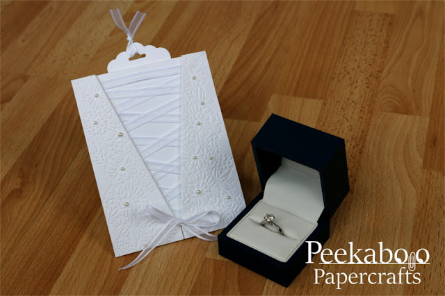 Embossed Wedding Dress Card