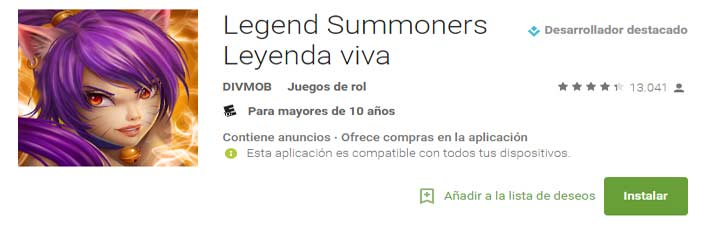 legend summoners leyenda viva