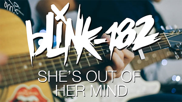 """blink-182 premiere video for """"She's Out of Her Mind"""""""