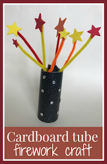 Cardboard tube firework craft main