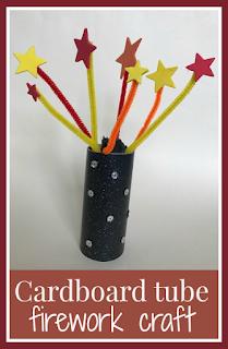 Cardboard tube firework craft main