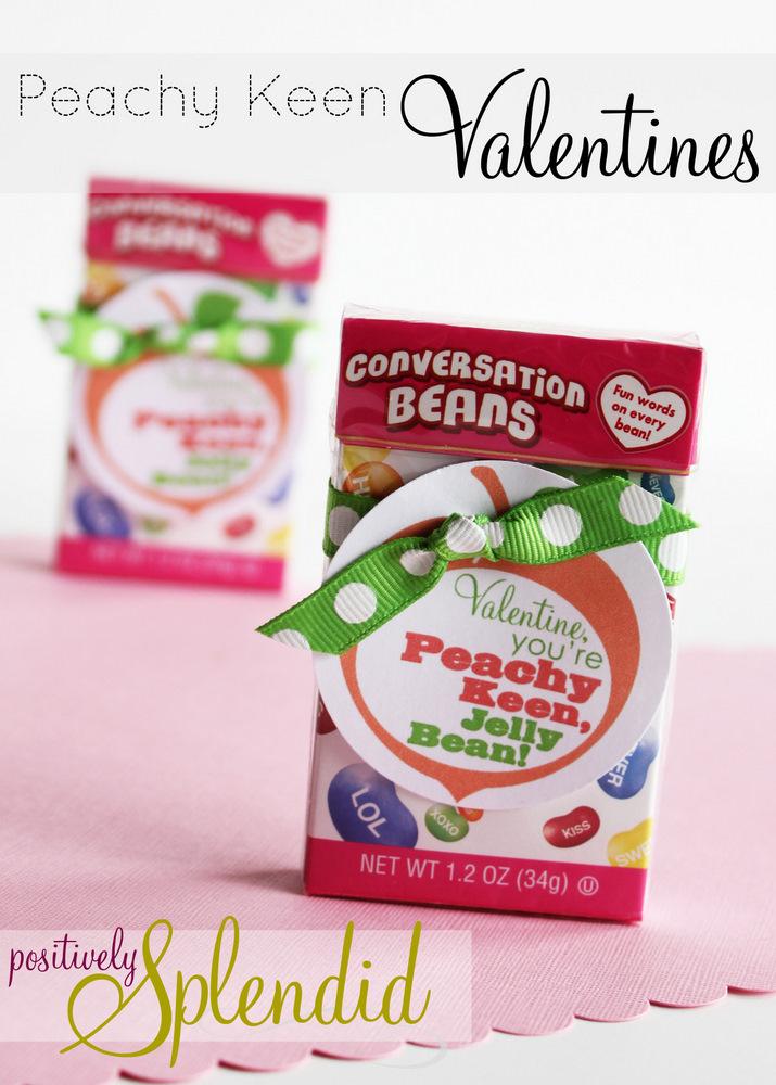 Peachy Keen Jellybean Valentines {Free Printable} - Positively ...