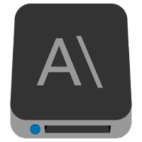 Preview of hard disk, local drive A, primary drive, OS, drives icon