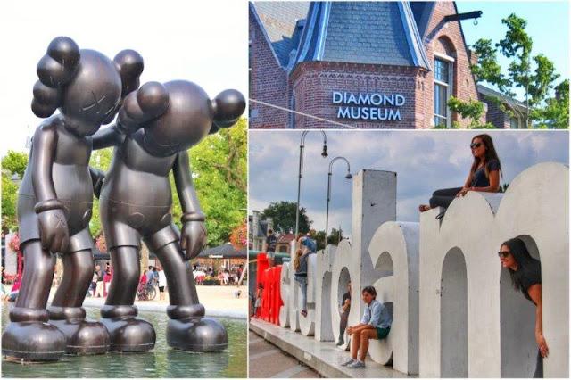 Escultura Along The Way de KAWS, Art Zuid – Museo del Diamante – Letras I amsterdam en Museumplein, Amsterdam
