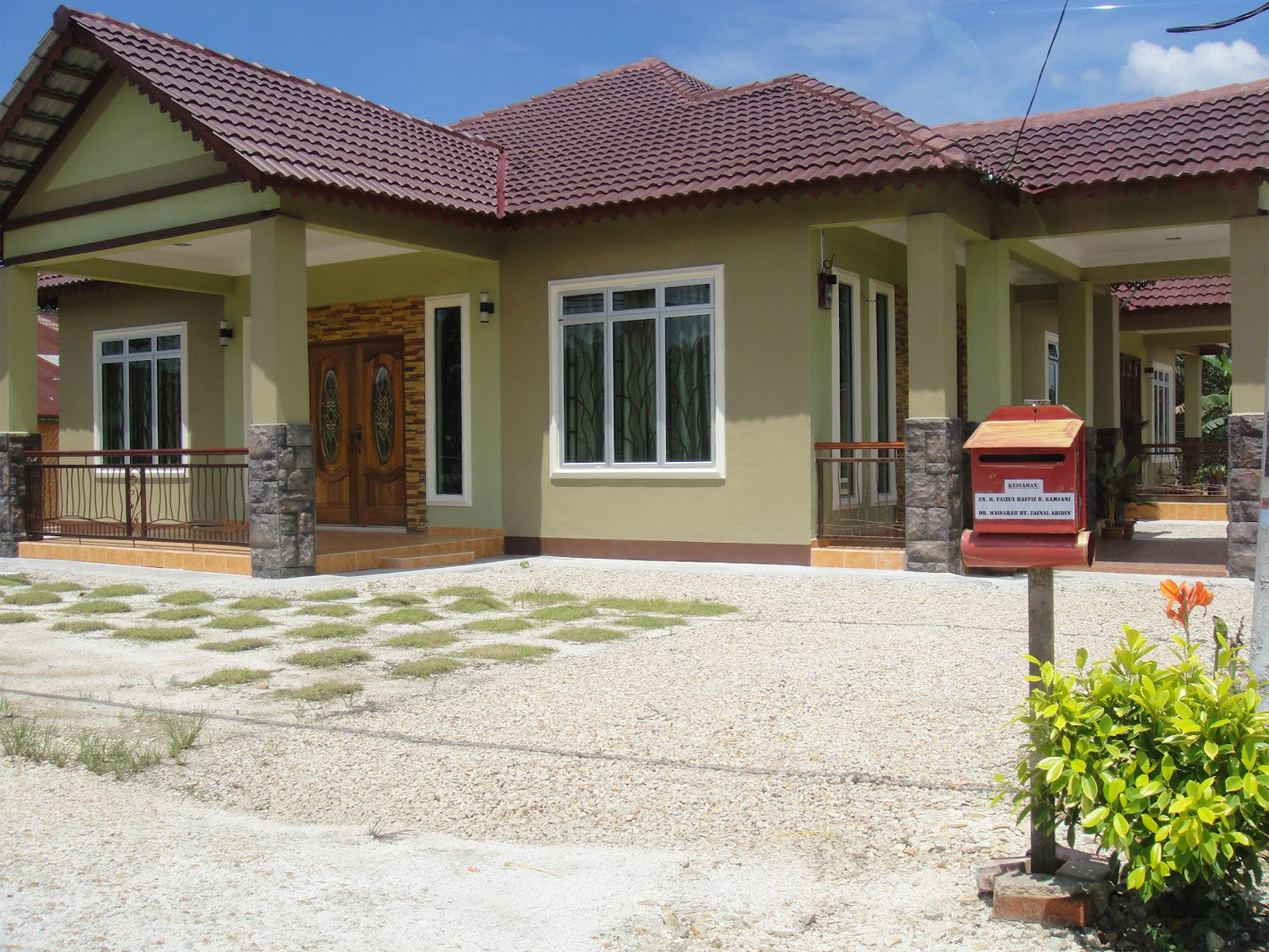 Reka bentuk tiang depan rumah & Reka bentuk motif tiang teras bahagian depan rumah moden minimalis ...