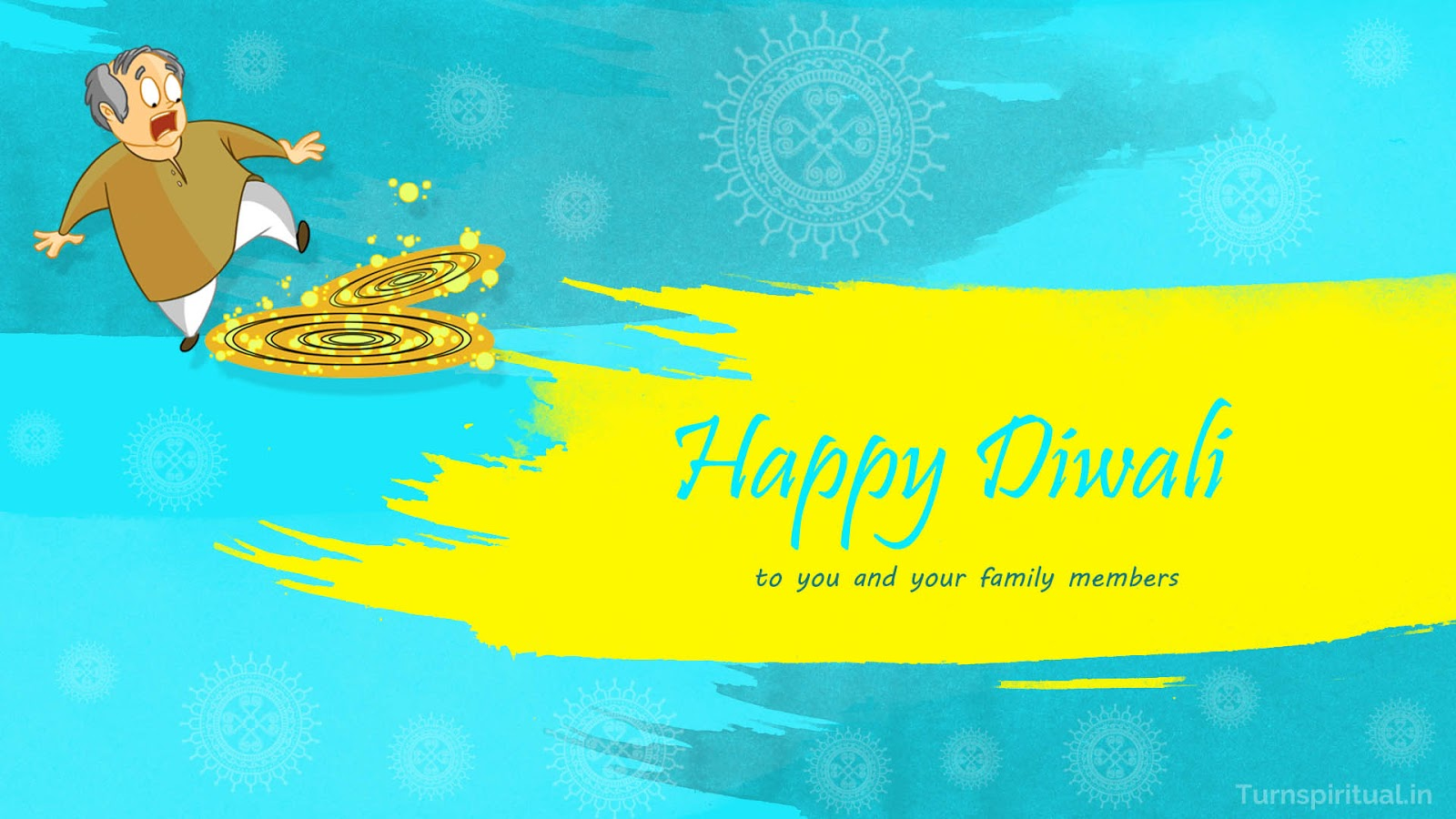 Best Happy Diwali ( Deepavali ) wishes greeting cards, images, pictures, wallpapers with crackers illustrations and rangoli decorations free download