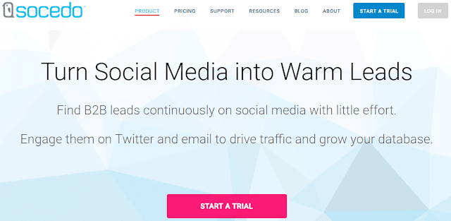 Socedo social media management tool