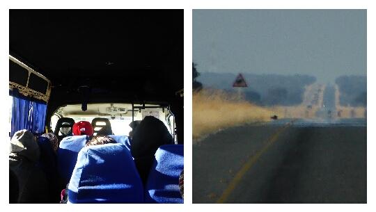 Bus y carretera a Nata