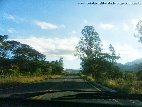 Estrada para Bocaina de Minas, viagem