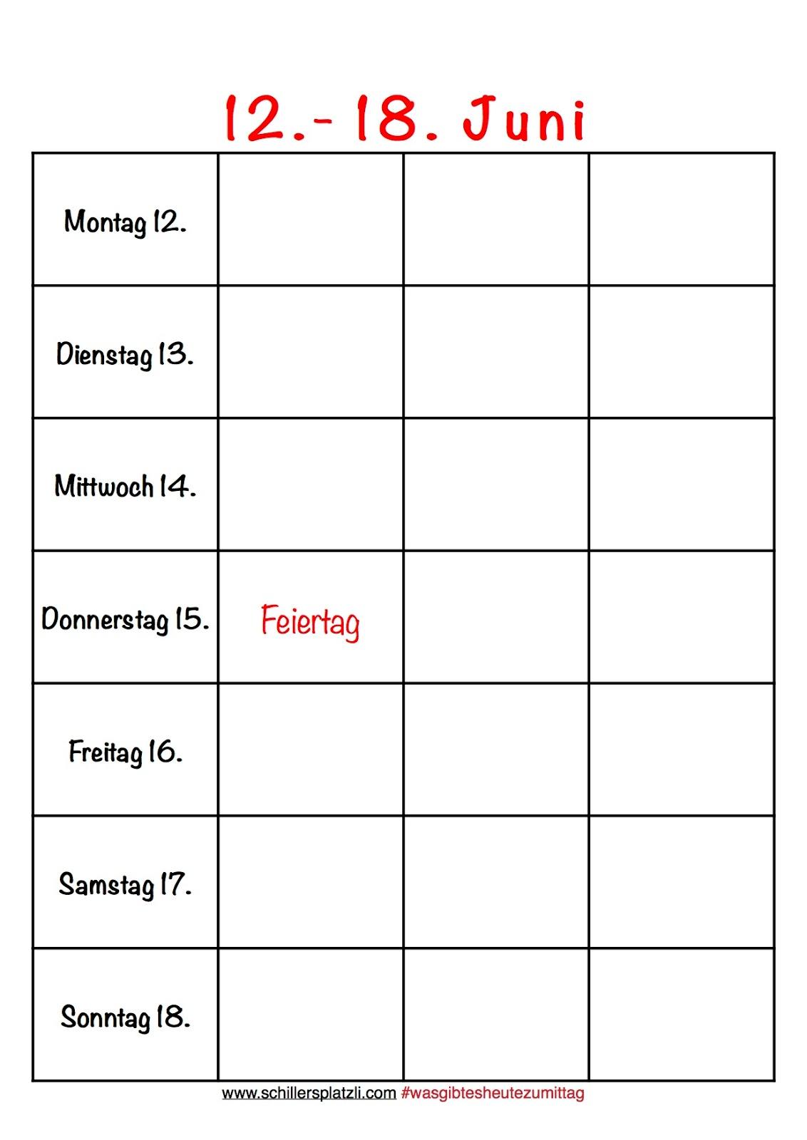 Nett Montag Freitag Zeitplan Vorlage Bilder - Entry Level Resume ...