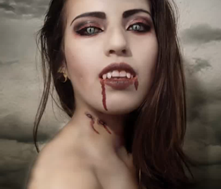 Maquillaje halloween mujer vampiro