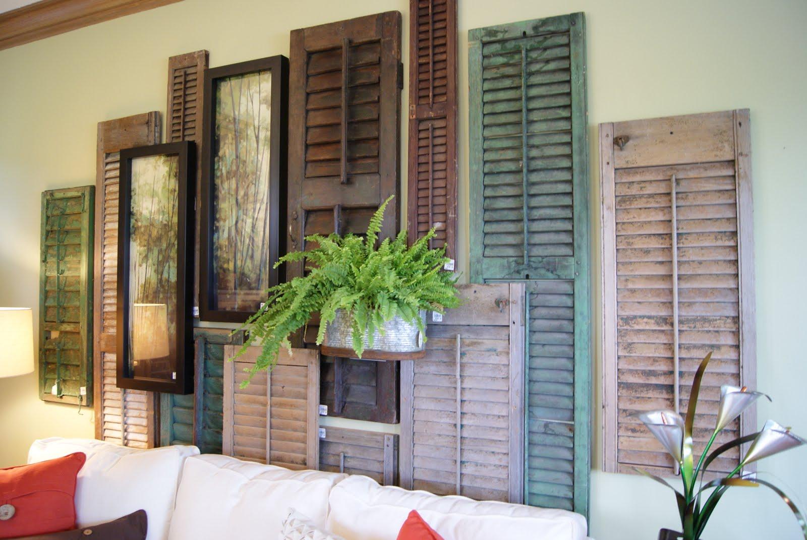 wall shutter decor - 28 images - shutter planter shutter ...