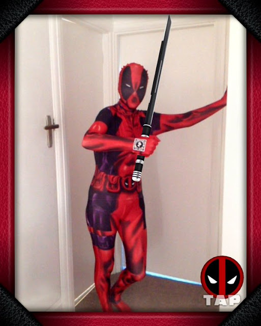 morphsuit fancy dress deadpool zapper phone app