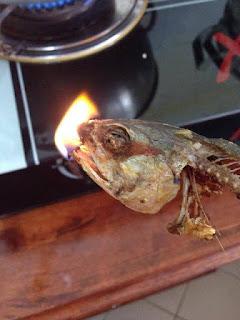 Kepala Ikan Terbakar Ada Kandungan Plastic