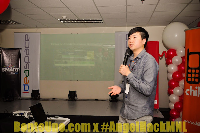 Representative of Blackberry SG at Angel Hack Manila 2013