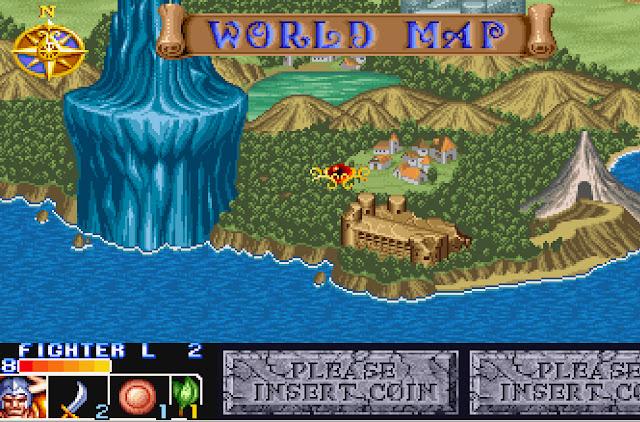 The King of Dragons - World Map Screenshot