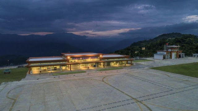 Image Attribute: Aerial view of Pakyong Airport / Source: Airport Authority of India