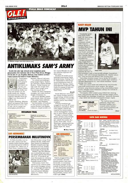PIALA EMAS CONCACAF 1998 SAM'S ARMY