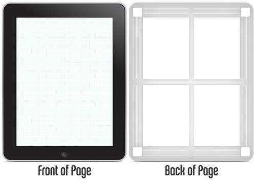 Bloc o blog de notas estilo iPad.