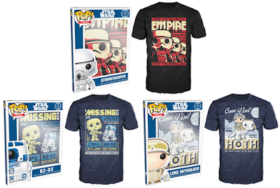 Star Wars Original Trilogy Posters Pop! Tees T-Shirts by Funko