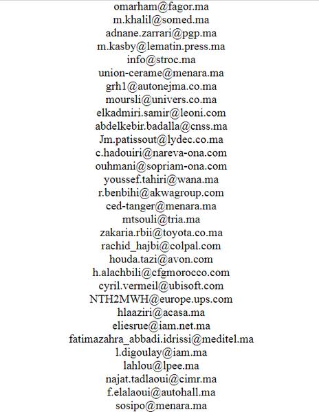 1000 emails des premières entreprises au Maroc للبحث عن العمل لكم ألف بريد إلكتروني للشركات في المغرب